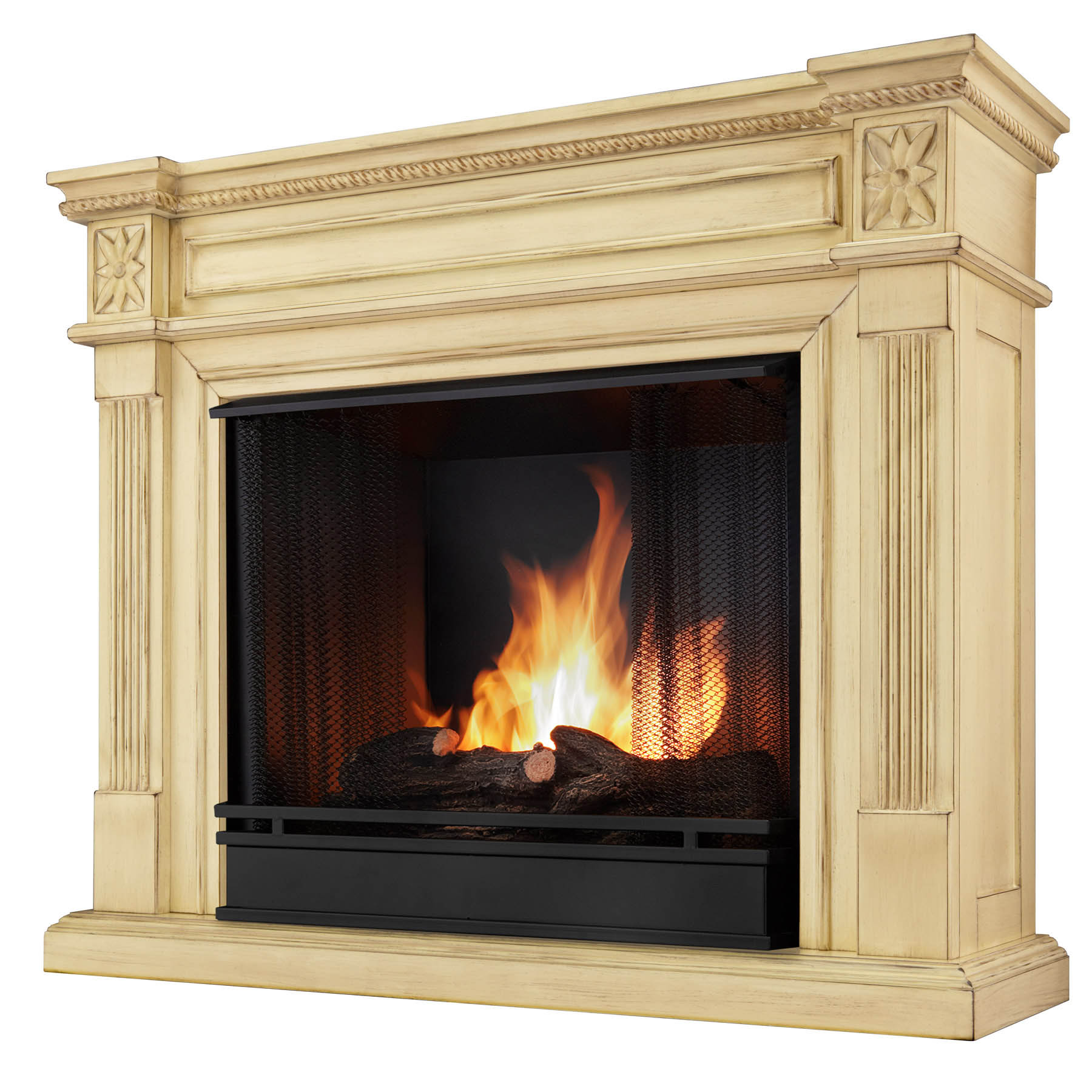 The Elise Real Flame Ventless Gel Fireplace