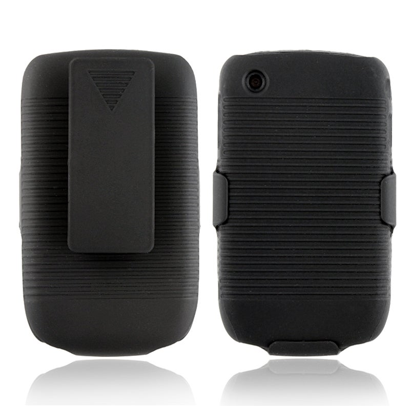 Black Swivel Holster with Stand for BlackBerry Curve 8520/ 8530