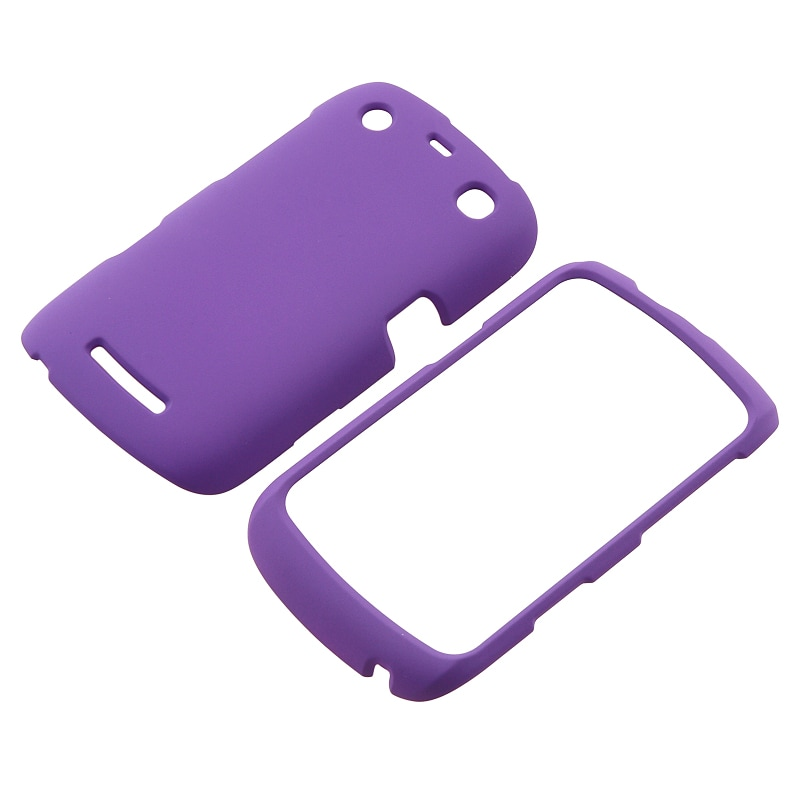 Purple Rubber Coated Case for BlackBerry Curve 9350/ 9360/ 9370