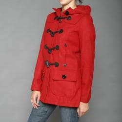 Red Fox Women's Red Wool-blend Toggle Coat