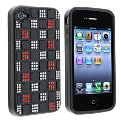 Black Hybrid Diamond Case for Apple iPhone 4/ 4S
