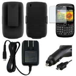 Holster/ Screen Protector/ Chargers for BlackBerry Curve 8520