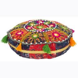 Traditional Indian Poufs (Set of 3)