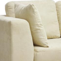 Adalyn Tan Microfiber 3 seat Sofa