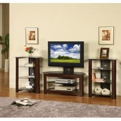 42-inch Corner TV Stand with Two Component Stands