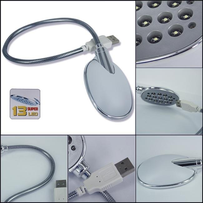 Skque 13-LED USB Flexible Light Lamp for Laptop PC Notebook