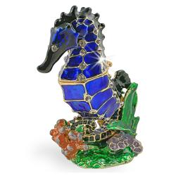 Objet d'art 'Giddiup' The Sea Horse Trinket Box