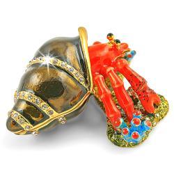 Objet d'art 'Herman' The Hermit Crab Trinket Box