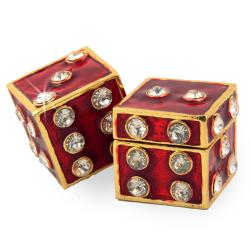 Objet d'art 'Dice Dice Baby' Pair of Dice Trinket Box