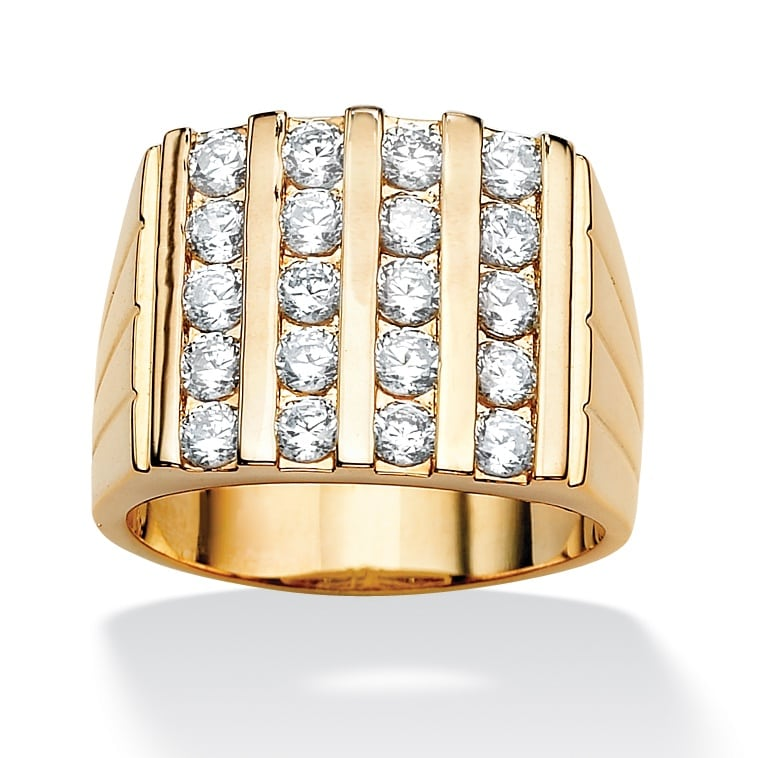 Ultimate CZ 14k Gold-Plated Cubic Zirconia Ring
