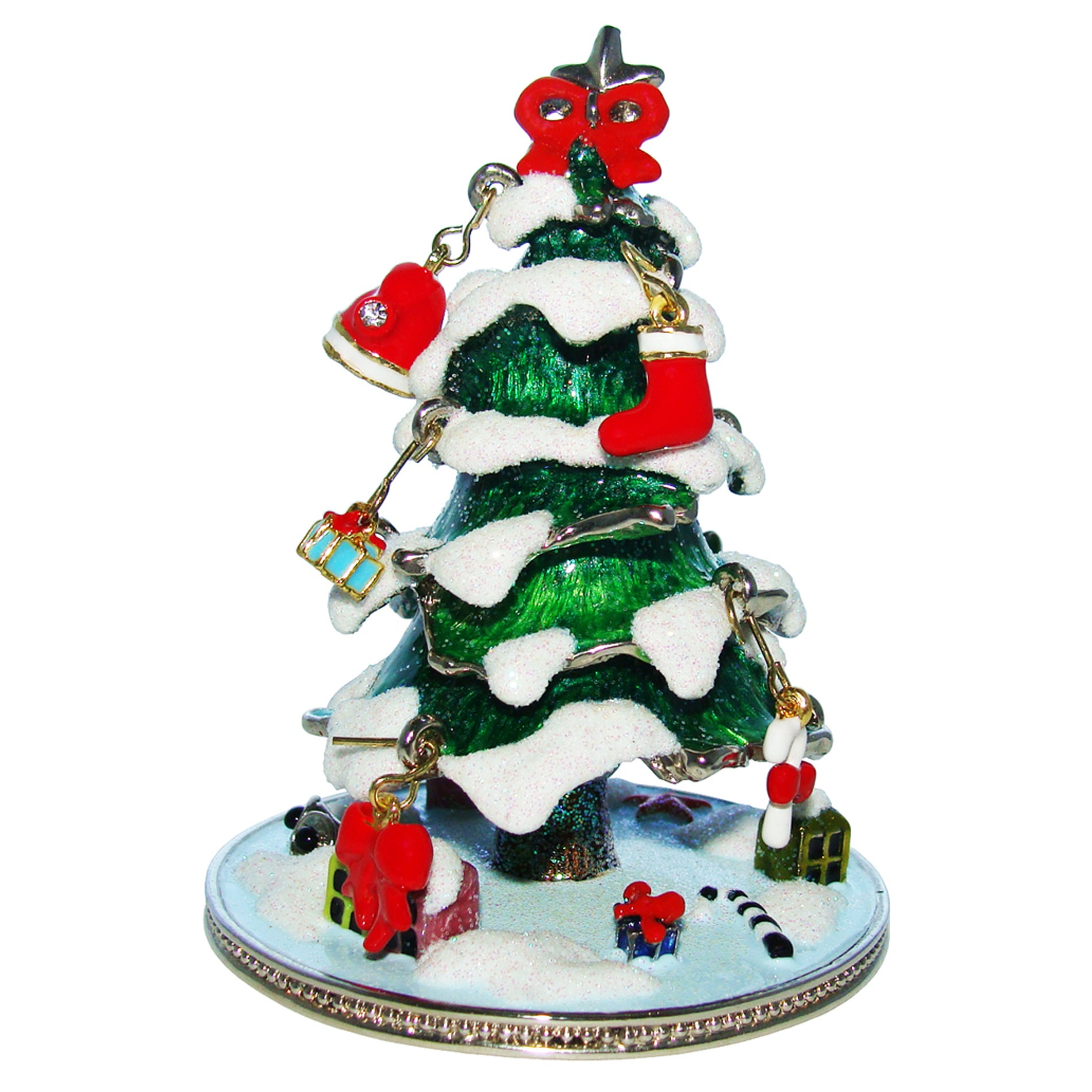 Objet d'art 'The First Noel' Christmas Tree Trinket Box