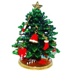 Objet d'art 'Deck the Halls' Christmas Tree Trinket Box