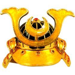 Objet d'Art 'Kabuto' Japanese Samurai Helmet Trinket Box