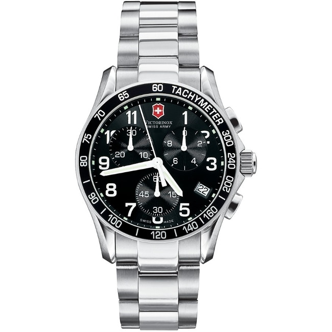 Swiss Army Men's Chrono Classic Black Dial/ Stainless Steel Watch