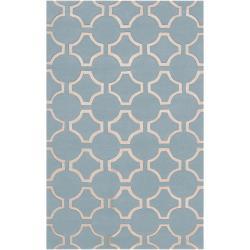 Hand-tufted Poquoson Geometric Trellis Wool Rug (8' x 11')