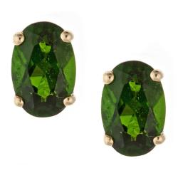 D'Yach 14k Yellow Gold Chrome Diopside Stud Earrings