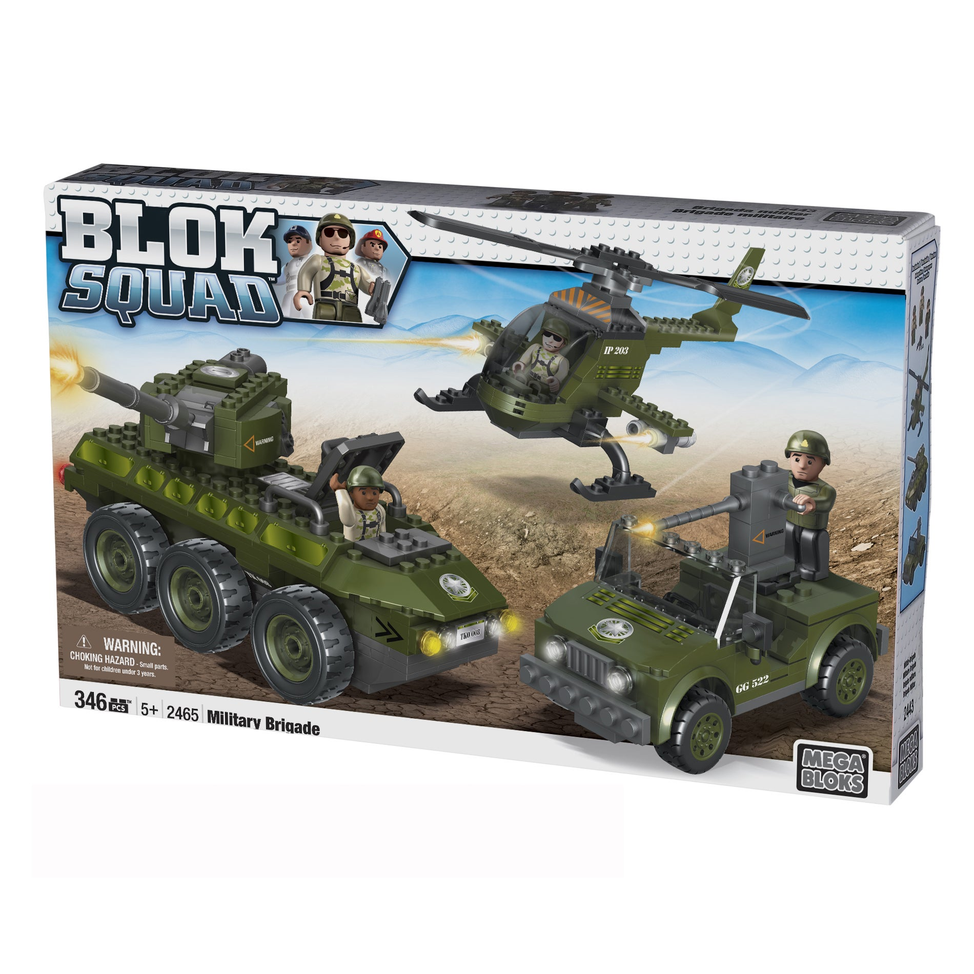Mega Bloks Blok Squad Ultimate Army Military Brigade