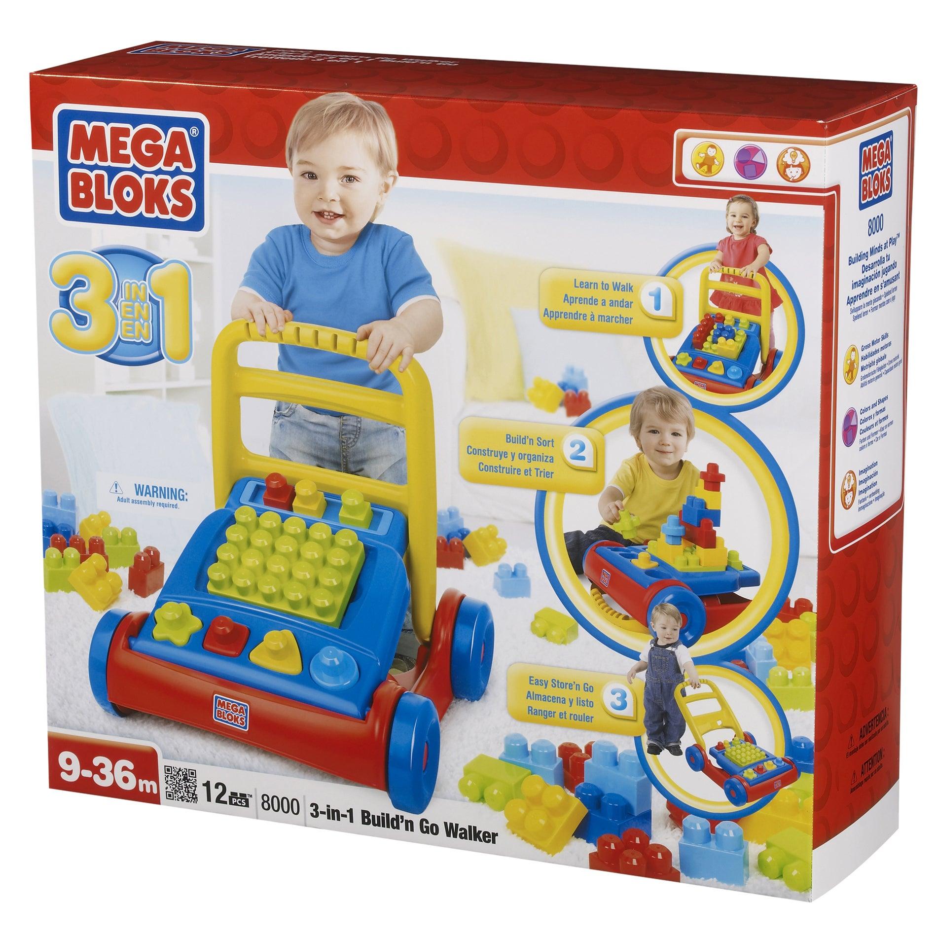 Mega Bloks Build'n Go 3-in-1 Walker Play Set