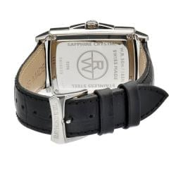 Raymond Weil Men's Black Leather Strap Watch