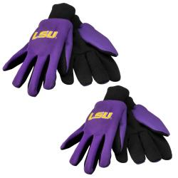 LSU Tigers Two-tone Work Gloves (Set of 2 Pair)