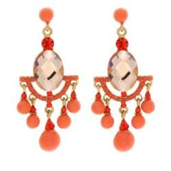 NEXTE Jewelry Coral Orange Color Dangle Earrings