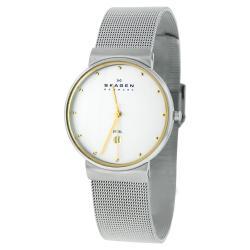 Skagen Men's 355LGSC Two-Tone Stainless Steel Mesh Watch