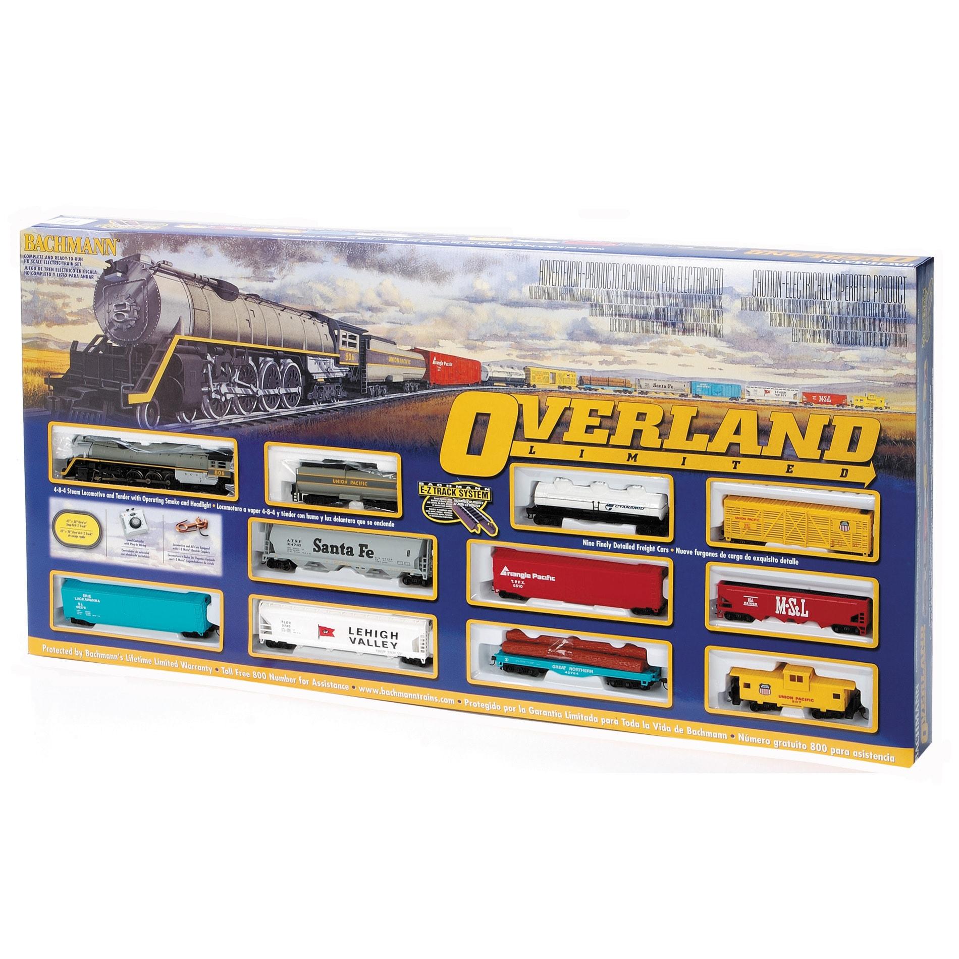Bachmann HO Scale Overland Limited Train Set