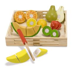 Melissa & Doug Cutting Fruit Crate Play Set