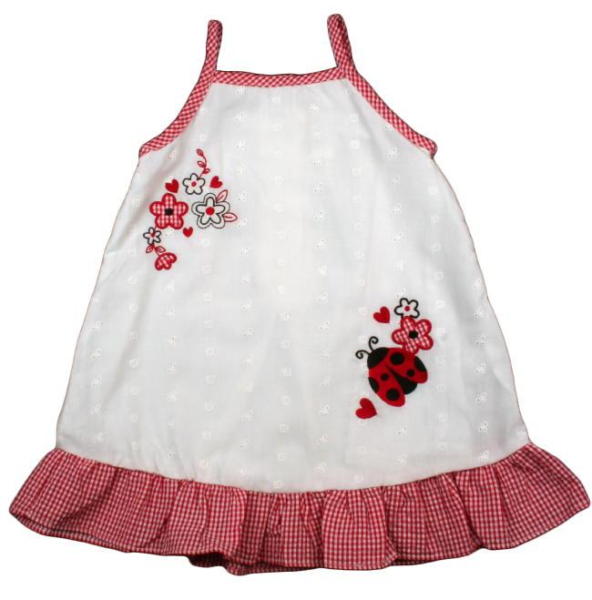 So La Vita Toddler Girls Eyelet Ladybug Sundress