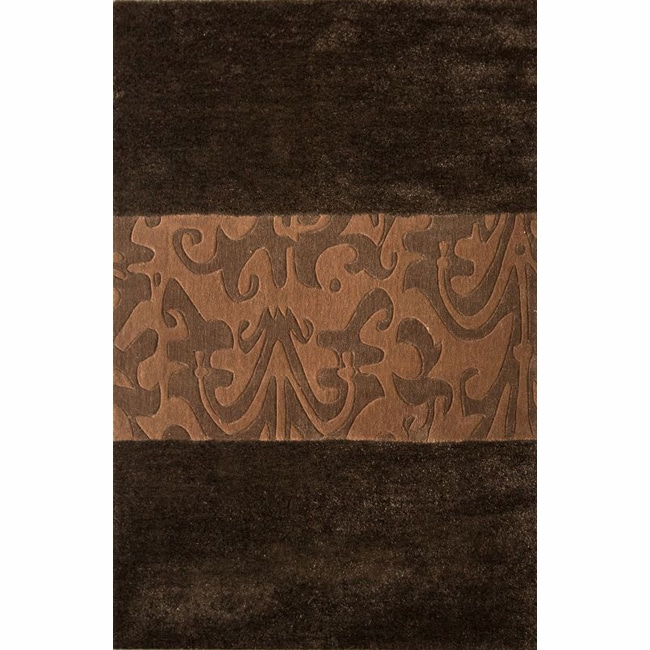 nuLOOM Handmade Remington Brown Rug (5' x 8')