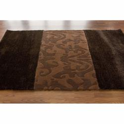 nuLOOM Handmade Remington Brown Rug (7'6 x 9'6)
