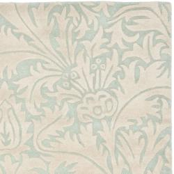 Safavieh Handmade Bliss Beige/ Blue New Zealand Wool Rug (3'6 x 5'6')