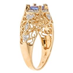 D'Yach 14k Gold Tanzanite and 1/5ct TDW Diamond Ring (G-H, I1-I2)
