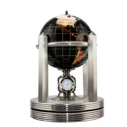 Allure by Jay Desk Globe with Gold Clock Stand