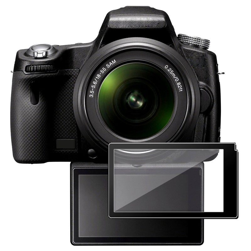 0.5mm Transparent LCD-screen Glass Protector for Sony Alpha A55/A33