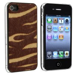 Yellow/ Brown Zebra Feather Snap-on Case for Apple iPhone 4/ 4S