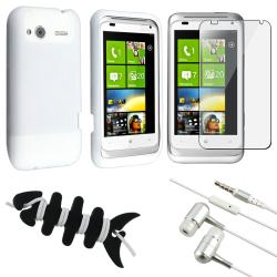 White Case/ Screen Protector/ Headset/ Wrap for HTC Radar 4G