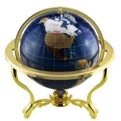 Blue Desktop Large Lapis/ Gemstone Globe