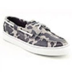 Sperry Top Sider Womens' Bahama Gray Marble Cheetah Boat Shoes