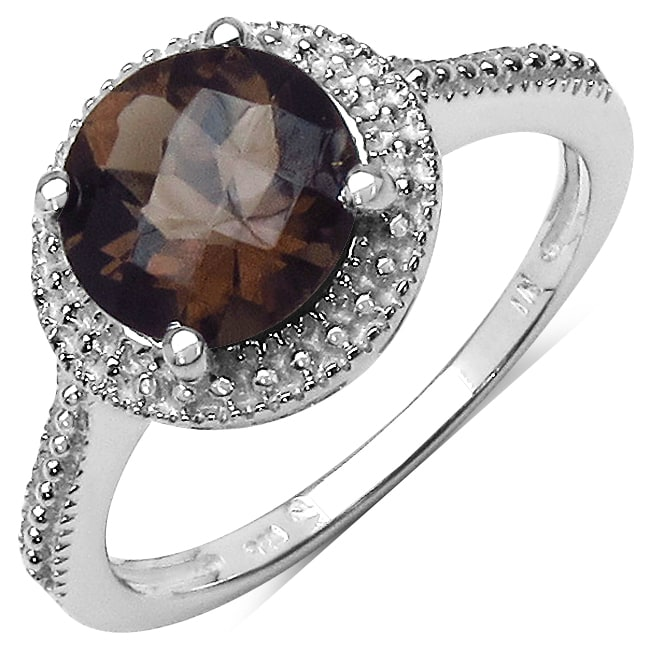 Malaika Sterling Silver Smoky Quartz Ring