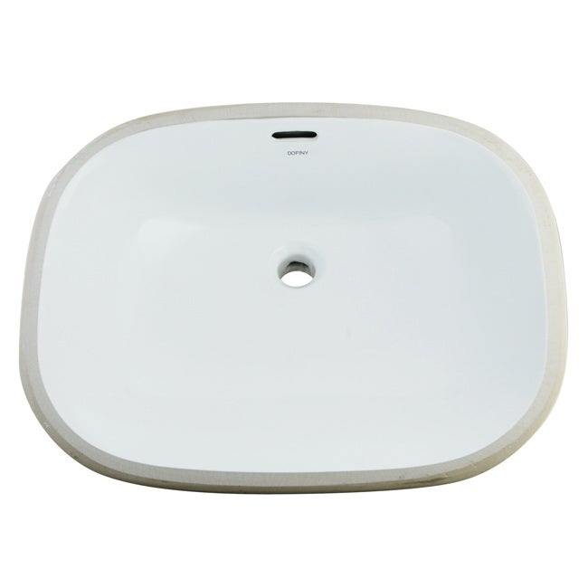 White Vitreous China 20-inch Undermount Bathroom Sink