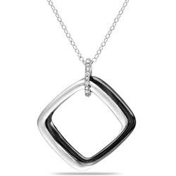 Sterling Silver Diamond Accent Fashion Necklace
