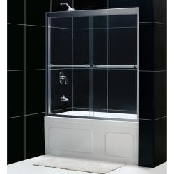 DreamLine Duet Frameless 56-59 x 58-inch Bypass Sliding Tub Door