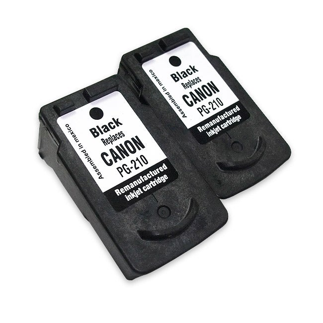 Canon PG-210 Black Ink Cartridge (Remanufactured) (Pack of 2)