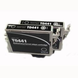 Epson T044120 Black Ink Cartridge (Remanufactured) (Pack of 2)