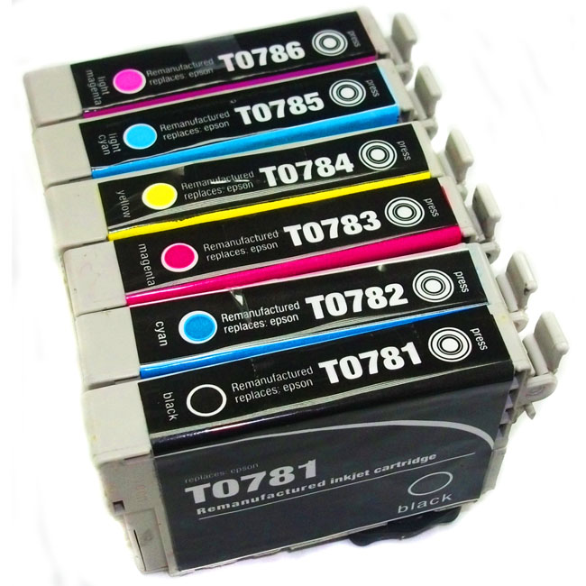 Epson T078 Cartridge Combo (Remanufactured) (Pack of 6)