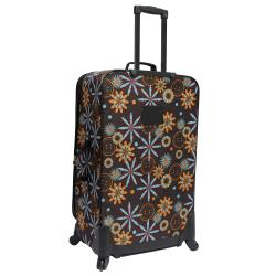 U.S. Traveler Brown Floral Fashion 4-piece Spinner Luggage Set
