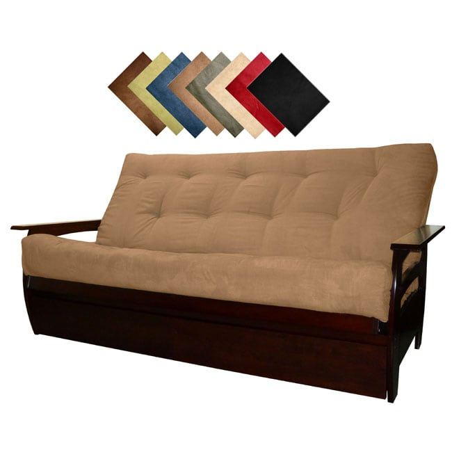 solid all wood tampa microfiber suede inner spring queen