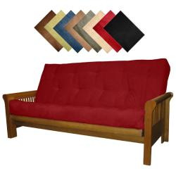 Solid All Wood Hartford Microfiber Suede Inner Spring Full-size Futon Sofa Bed Sleeper