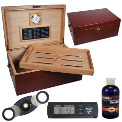 Cuban Crafters Perfect Humidor with Digital Hygrometer Set